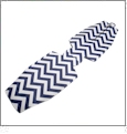 Unsewn 12oz Long Neck Zipper Bottle Koozie Embroidery Blanks - NAVY CHEVRON
