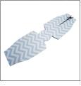 Unsewn 12oz Long Neck Zipper Bottle Koozie Embroidery Blanks - AQUA CHEVRON