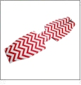 Unsewn 12oz Long Neck Zipper Bottle Koozie Embroidery Blanks - RED CHEVRON