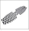 Unsewn 12oz Long Neck Zipper Bottle Koozie Embroidery Blanks - BLACK CHEVRON