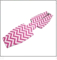Unsewn 12oz Long Neck Zipper Bottle Koozie Embroidery Blanks - HOT PINK CHEVRON