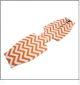 Unsewn 12oz Long Neck Zipper Bottle Koozie Embroidery Blanks - DEEP ORANGE CHEVRON