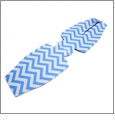Unsewn 12oz Long Neck Zipper Bottle Koozie Embroidery Blanks - NEON BLUE CHEVRON