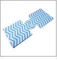 Unsewn 12oz Can Coolie Embroidery Blanks - NEON BLUE CHEVRON - CLOSEOUT