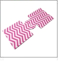 Unsewn 12oz Can Koozie Embroidery Blanks - HOT PINK CHEVRON