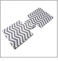 Unsewn 12oz Can Coolie  Embroidery Blanks - DARK GRAY CHEVRON - CLOSEOUT