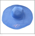 Wide Brim Floppy Hat Embroidery Blanks - BLUE
