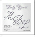 OESD Truly Yours Monogram Alphabet Embroidery Designs on a Multi-Format CD-ROM CLOSEOUT
