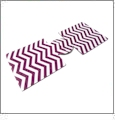 Unsewn 12oz Can Coolie Embroidery Blanks - PLUM CHEVRON - CLOSEOUT