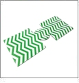 Unsewn 12oz Can Coolie Embroidery Blanks - KELLY GREEN CHEVRON - CLOSEOUT