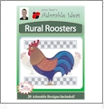 Rural Roosters Embroidery Designs by John Deer's Adorable Ideas - Multi-Format CD-ROM