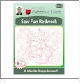 Sew Fun Redwork Embroidery Designs by John Deer's Adorable Ideas - Multi-Format CD-ROM
