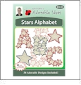 Stars Alphabet Embroidery Designs by John Deer's Adorable Ideas - Multi-Format CD-ROM