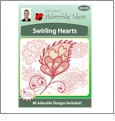 Swirling Hearts Embroidery Designs by John Deer's Adorable Ideas - Multi-Format CD-ROM