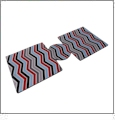 Unsewn 12oz Can Coolie Embroidery Blanks - CHEVRON MULTI-COLOR - CLOSEOUT