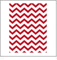 Chevron 10  - RED QuickStitch Embroidery Paper - One 8.5in x 11in Sheet