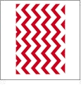 Chevron Horizontal RED - QuickStitch Embroidery Paper - One 8.5in x 11in Sheet