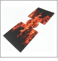Unsewn Can Koozie Embroidery Blanks - FLAMES