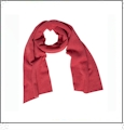 Eco Fleece Slim Scarf Embroidery Blanks - ECO RED