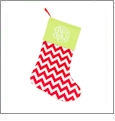 Chistmas Stocking Embroidery Blanks - Red Chevron - CLOSEOUT