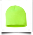 "8"" Knit Beanie Embroidery Blanks - Safety Yellow (Actually More Green) - CUSTOMER RETURN"