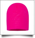 "8"" Knit Beanie Embroidery Blanks - NEON PINK"