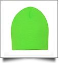 "8"" Knit Beanie Embroidery Blanks - NEON GREEN"