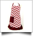 Full Length Chevron Apron Embroidery Blanks - BURGUNDY