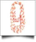 Chevron Jersey Knit Infinity Scarf Embroidery Blanks - ORANGE
