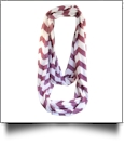 Chevron Jersey Knit Infinity Scarf Embroidery Blanks - WINE - CLOSEOUT
