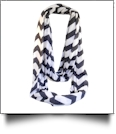 Chevron Jersey Knit Infinity Scarf Embroidery Blanks - BLACK