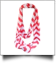 Chevron Jersey Knit Infinity Scarf Embroidery Blanks - RED