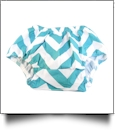 Big Print Chevron Diaper Cover - TEAL