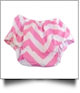 Big Print Chevron Diaper Cover - PINK