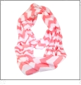 Chevron Jersey Knit Infinity Scarf Embroidery Blanks - PEACH - CLOSEOUT