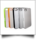 Plastic iPhone 4/4S Sumblimation Case w/ Metal Insert - Sublimation Blanks - WHITE