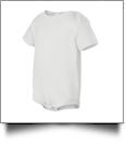 bella baby Short Sleeve Onesie/Creeper Embroidery Blanks - 3/6M WHITE - IRREGULAR
