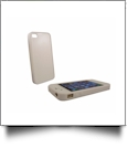 Rubber iPhone 4/4S Sumblimation Case w/ Metal Insert - Sublimation Blanks - WHITE
