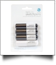 Silhouette Black & White Sketch Pens - Four Pen Pack