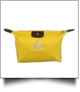 Microfiber Cosmetic Bag Embroidery Blanks - YELLOW
