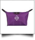 Microfiber Cosmetic Bag Embroidery Blanks - PURPLE