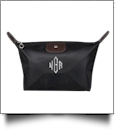 Microfiber Cosmetic Bag Embroidery Blanks - BLACK