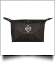 Microfiber Cosmetic Bag Embroidery Blanks - BROWN
