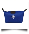Microfiber Cosmetic Bag Embroidery Blanks - ROYAL BLUE