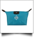 Microfiber Cosmetic Bag Embroidery Blanks - TURQUOISE