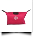 Microfiber Cosmetic Bag Embroidery Blanks - HOT PINK