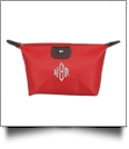 Microfiber Cosmetic Bag Embroidery Blanks - RED