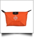 Microfiber Cosmetic Bag Embroidery Blanks - ORANGE