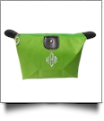 Microfiber Cosmetic Bag Embroidery Blanks - LIME