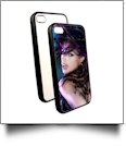 Rubber iPhone 5/5S Sumblimation Case w/ Metal Insert - Sublimation Blanks - BLACK